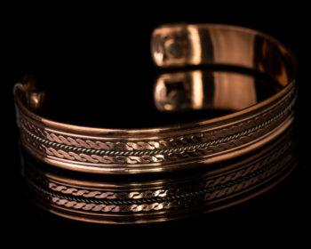 bracelet en cuivre avec aimant